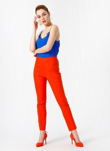 Random Slim Fit Pantolon Oranj